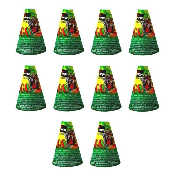 10 x Kongo Vulkan